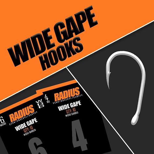 Radius Wide Gape Hooks (Micro Barbed)