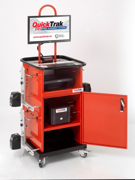 New QuickTrak Equipment in ALFAMAN, Try this Computerised 8CCD 4Wheels Aligner on Your Car!