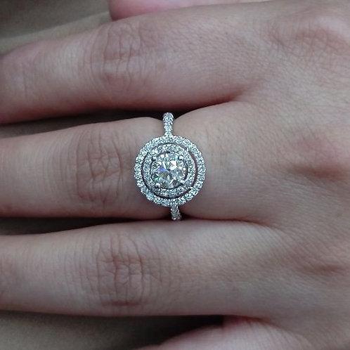 潤泰二手精品交流中心 流當鑽石拍賣 GIA 豪華 八心八劍 一克拉 E色 女鑽戒 喜歡價可議 ZS227