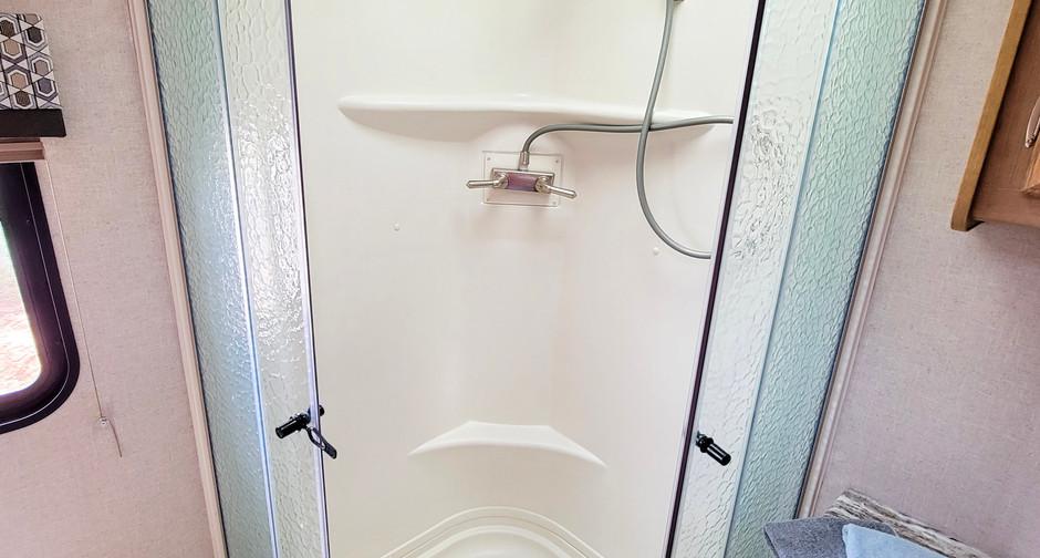 Large Shower - RV Rental