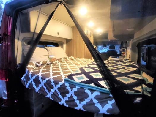 Solis Camper Van - Back Queen Bed