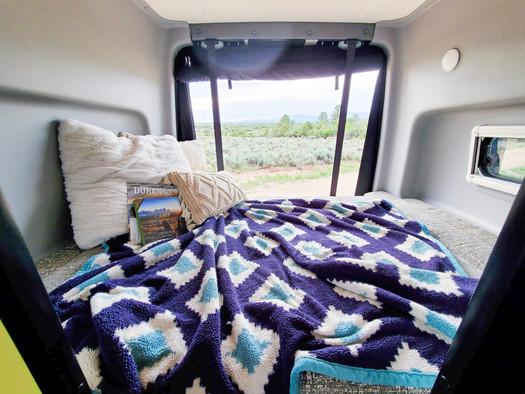 Revel 4x4 Sprinter Van Rental - Back Bed