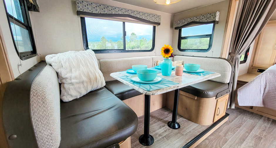 Dining Area Makes into a Full Sized Bed - RV Rental