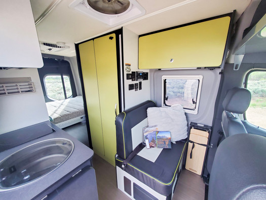 Revel 4x4 Sprinter Van Rental - Back Seat
