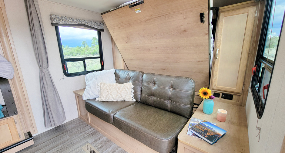 Fold Bed Up For Extra Seating - RV Rental