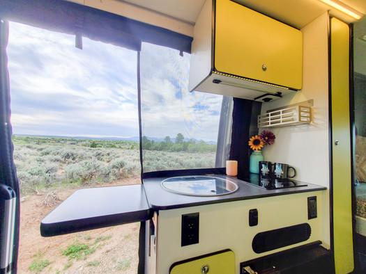 Revel 4x4 Sprinter Van Rental - View From Kitchen