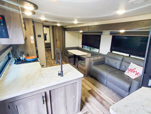 Kitchen and seating area - RV Rental