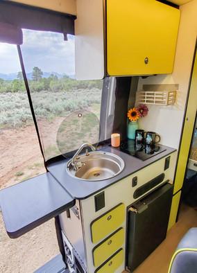 Revel 4x4 Sprinter Van Rental - Kitchen