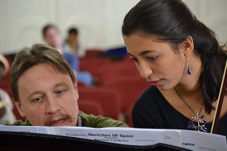 Leandro Lopez Varady with student in Havana, Cuba
