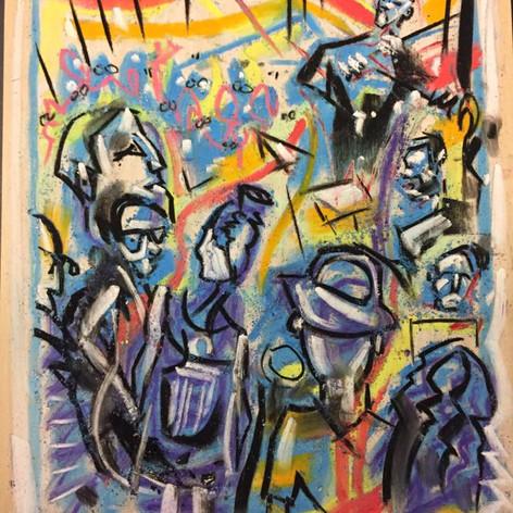 Achenbach paints Conjunto, Logan Center for the Arts, Chicago