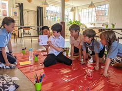 Children sharing stories