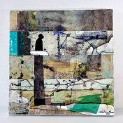Nahúm Flores - Mixed media painting
