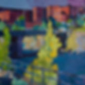 'Lachine Canal' oil on prepared panel, 4