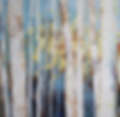 Woods, oil on canvas, painting, abstract, colourful, landscape