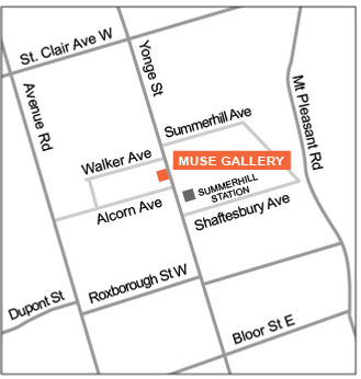 Muse Gallery location map