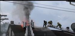 Corvette Grill Fire