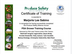 FSMA Grower Training