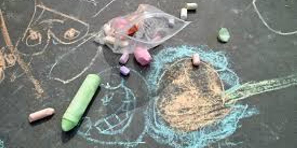 Waiting for Santa Chalk Art Contest