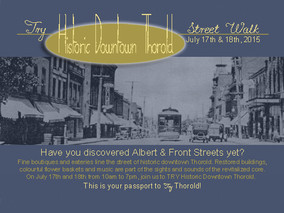 TRY Historic Downtown Thorold Street Walk