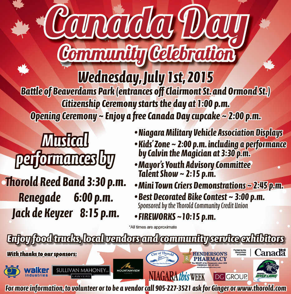 City Of Thorold Canada Day - June 25 2015.png