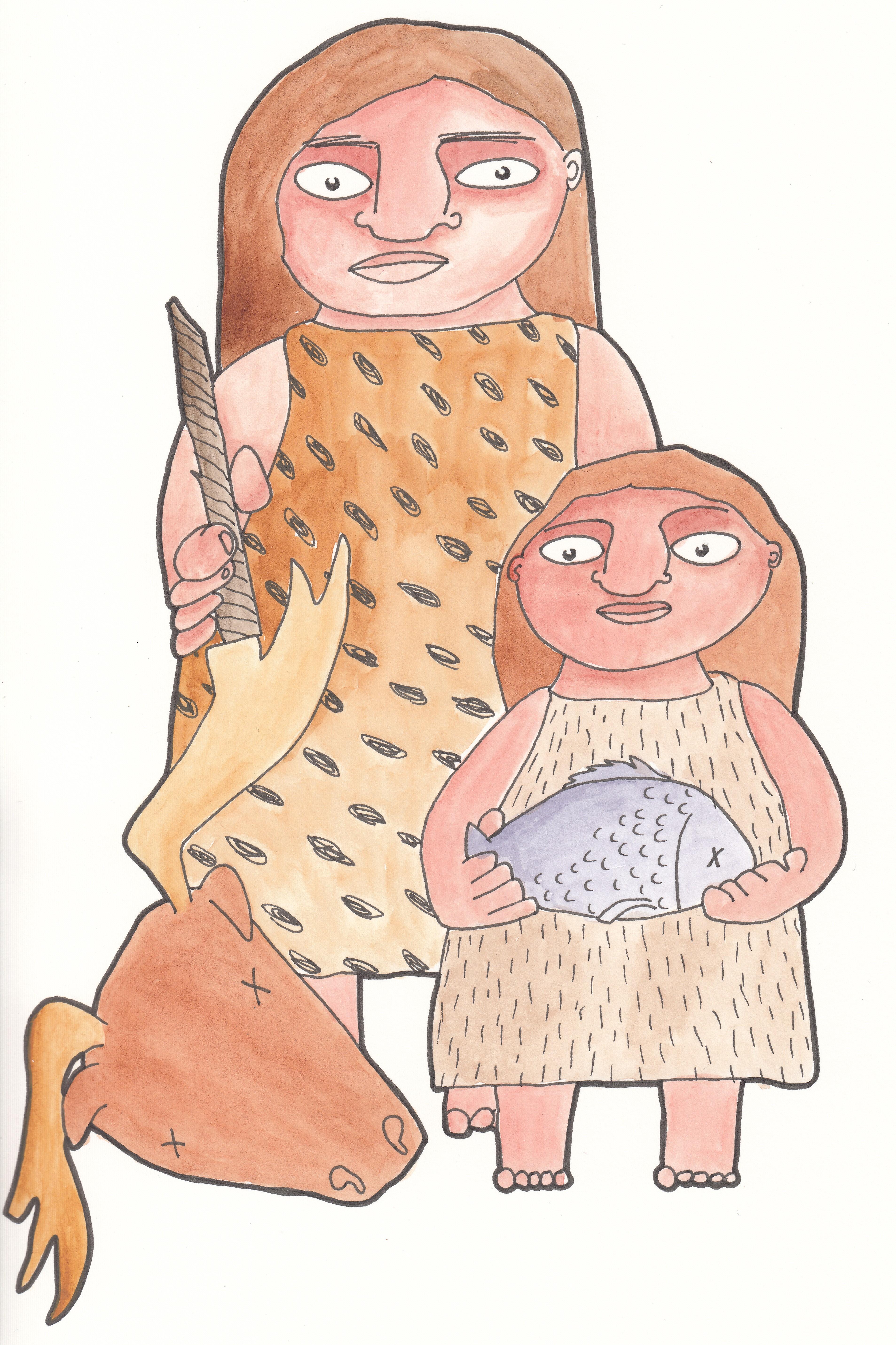 Neanderthalers op jacht