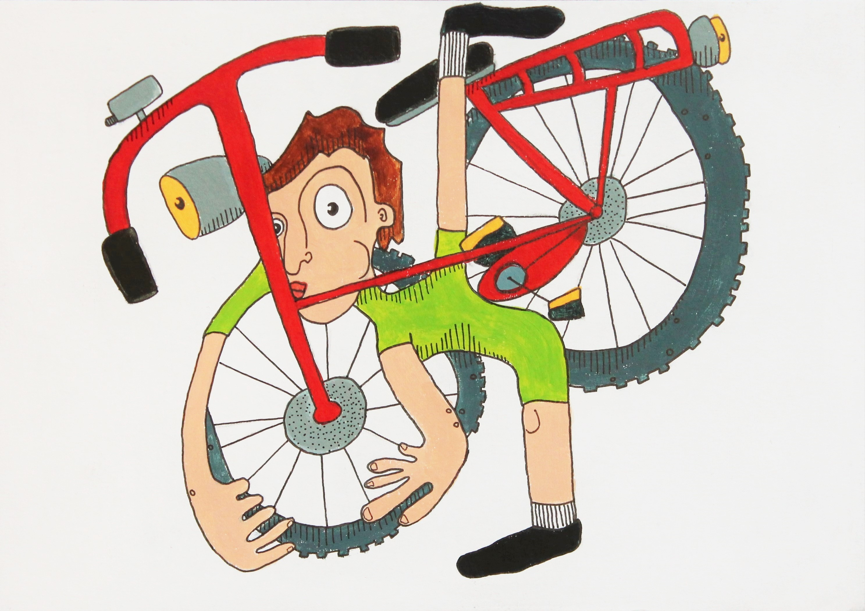How to hug a bike (vrij werk, 2016)