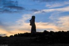 Easter Island Moai Full Moon