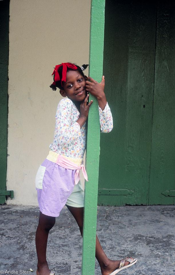 Girl in Haiti. Jacmel. 1998.