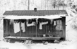 """Laundry method called """"freeze drying"""" used by rural Kentucky women."""