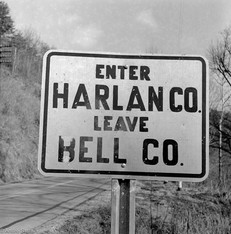 Harlan County sign