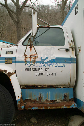 Abandoned Royal Crown Cola truck