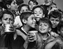 Kids drinking water