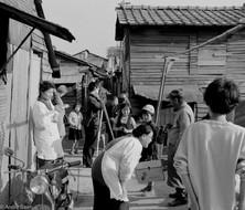 Filming in slum