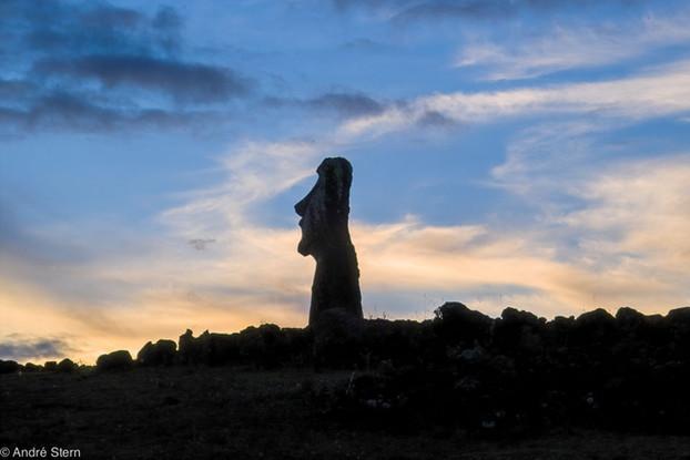 Full Moon. Easter Island. 2009.