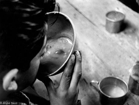 Kid having soup