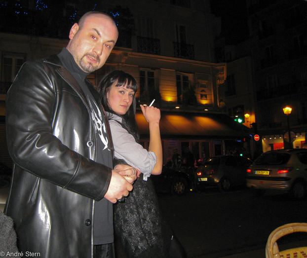 Paris Cafe Owners Taking a Break. 2009.