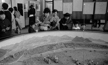 Replica of what was left of Hiroshima in museum