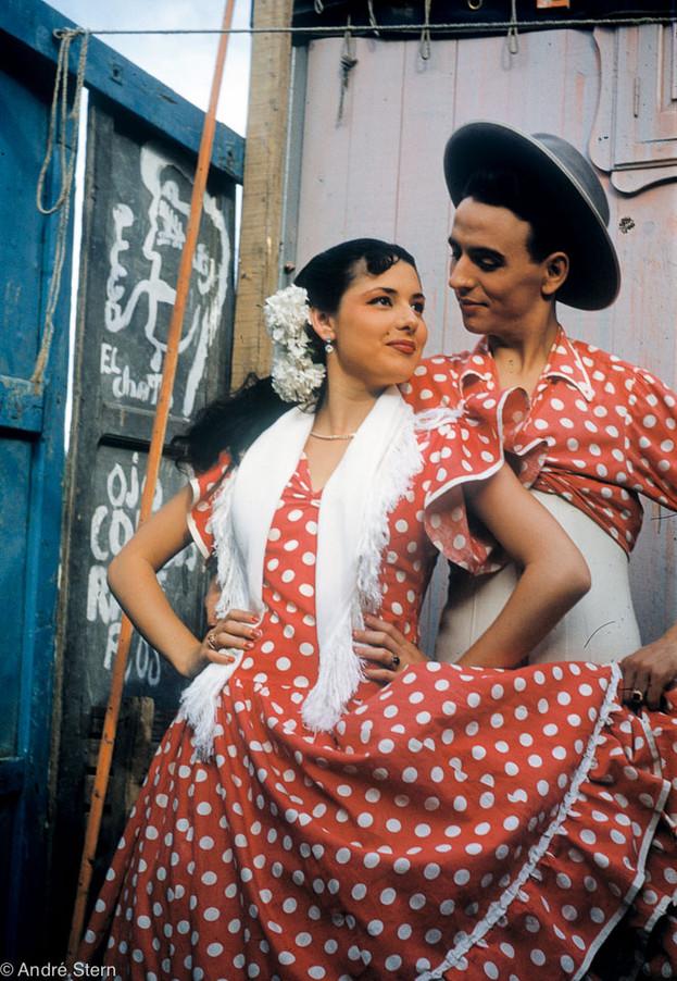 Flamenco Dancer Couple. Pamplona, Spain. 1953.