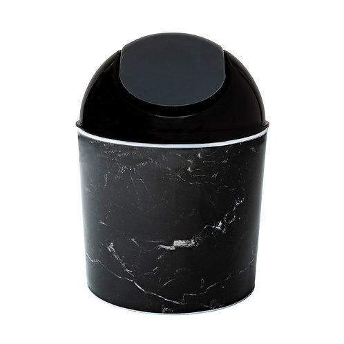 Kolorae Mini Waste Can Black Marble