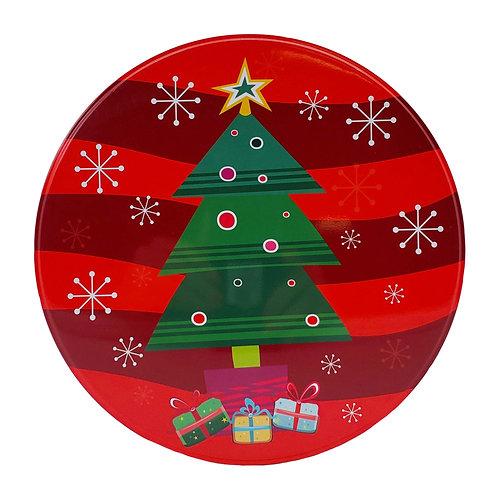 """Kolorae Tin 8.5"""" Round Christmas Tree"""