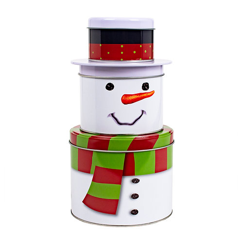 Kolorae Tin Stacking Snowman with Scarf