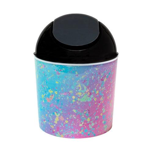 Kolorae Mini Waste Can Rainbow Splatter