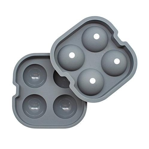 barY3 Grey Silicone 4 Ball Ice Tray