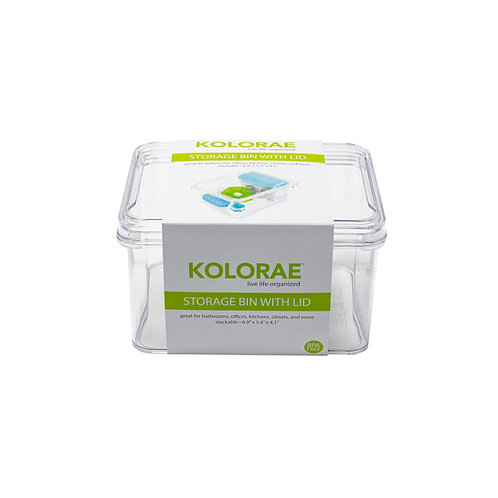 """Kolorae Storage Bin with Lid 6.9"""" x 5.4"""" x 4.1"""""""