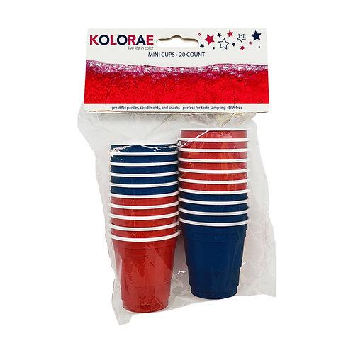 Kolorae Americana Mini Cups - 20 Count