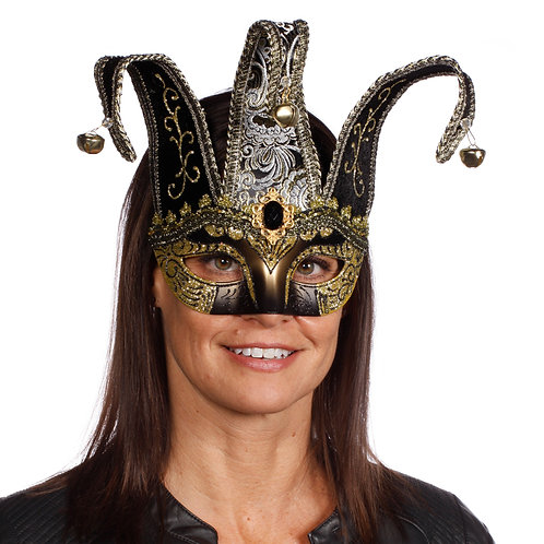 Masqarae Half Jester Eye Mask - BG