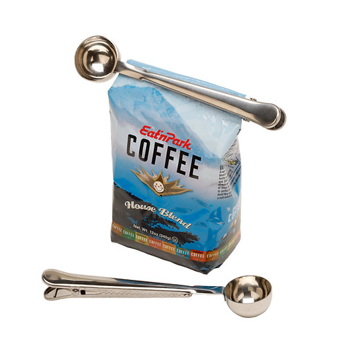 Countertop Cafe Coffee Scoop With Clip