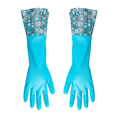 Kolorae Cleaning Gloves Blue Dogs
