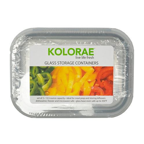 Kolorae Glass Food Storage Rectangle 12.5oz - 2 Count