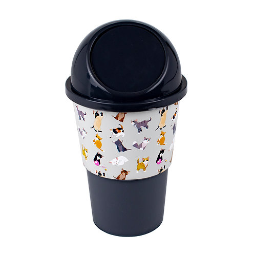 Kolorae Cup Holder Waste Can Cute Cats